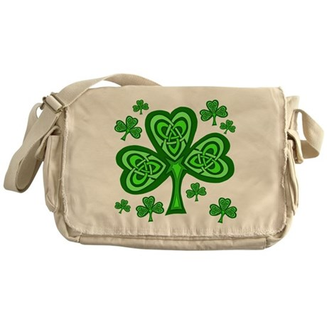 Celtic Shamrocks Messenger Bag