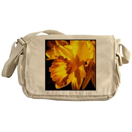 Yellow Daffodil Messenger Bag