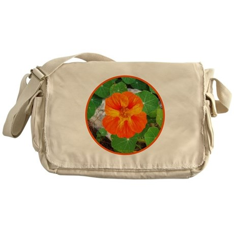 Orange Nasturtium Messenger Bag