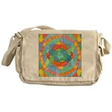 Sacred Geometry Watercolor Messenger Bag