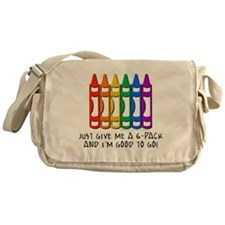Crayon 6-Pack Messenger Bag