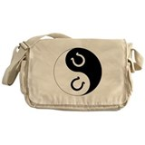 Yin Yang Horseshoe Messenger Bag