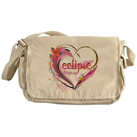 Eclipse Heart Messenger Bag