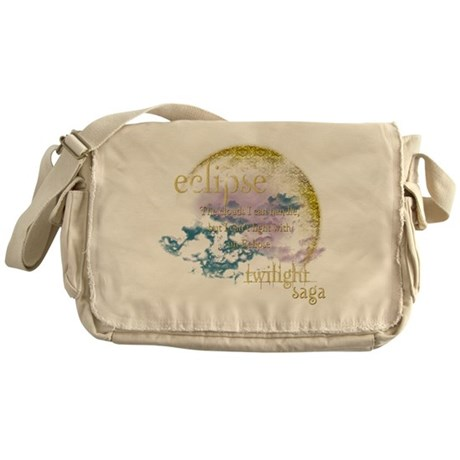 Jacob Quote Eclipse Clouds Messenger Bag