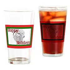 Angora Goat Happy Holidays-AngelFace Drinking Glas