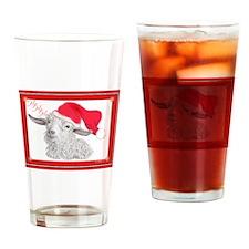 Goat Christmas Angora HoHoHo Drinking Glass