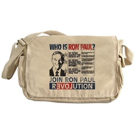 Who is Ron Paul? 'Vintage' Messenger Bag