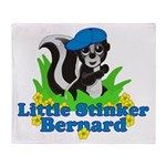 Little Stinker Bernard Throw Blanket