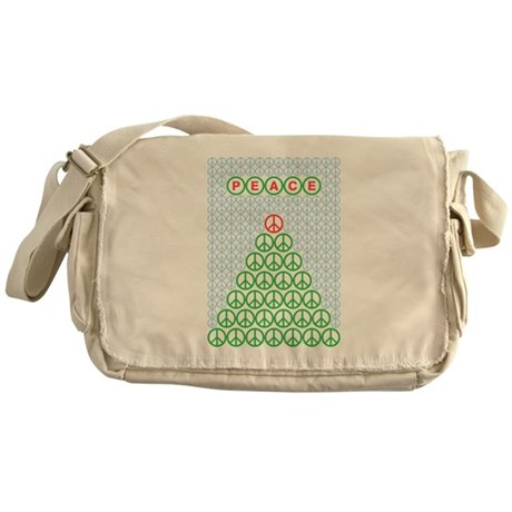 Peace Christmas Tree Messenger Bag