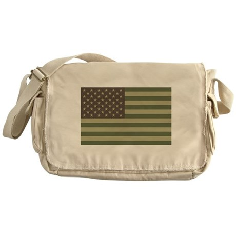 Camo American Flag Messenger Bag