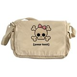 [Your text] Cute Skull Girl Messenger Bag