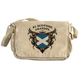 Number One Scottish Grandpa Messenger Bag