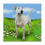 BULL TERRIER DOG PARK Tile Coaster