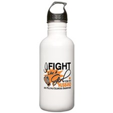 Fight Like A Girl For My MS Sports Water Bottle