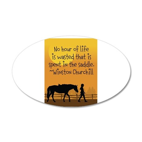 Horse and Child 22x14 Oval Wall Peel