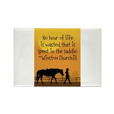 Horse and Child Rectangle Magnet (100 pack)