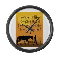 Horse and Child Large Wall Clock