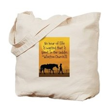 Horse and Child Tote Bag