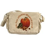 Gaelic Pumpkin Scene Messenger Bag