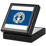 Nthn Marianas Islands Flag Keepsake Box