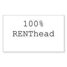 RENThead Rectangle Decal