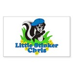 Little Stinker Chris Sticker (Rectangle 10 pk)