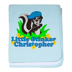 Little Stinker Christopher baby blanket