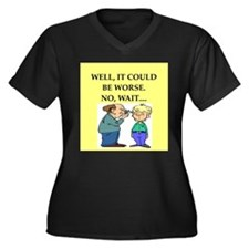 doctor joke Women's Plus Size V-Neck Dark T-Shirt
