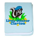 Little Stinker Clayton baby blanket
