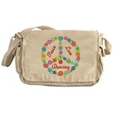 Dancing Peace Sign Messenger Bag