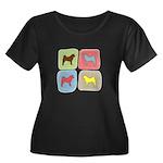 Akita Women's Plus Size Scoop Neck Dark T-Shirt