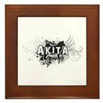 Akita Framed Tile