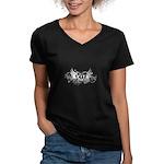 Akita Women's V-Neck Dark T-Shirt