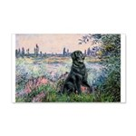 Flat Coated Retriever 2 20x12 Wall Decal