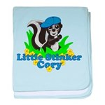 Little Stinker Cory baby blanket