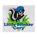 Little Stinker Cory Throw Blanket