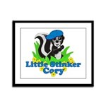 Little Stinker Cory Framed Panel Print
