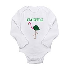 Flurtle Long Sleeve Infant Bodysuit