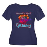 SUPER GRANNY Women's Plus Size Scoop Neck Dark T-S