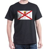 Jersey Flag Black T-Shirt
