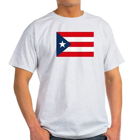 Puerto Rican Flag Ash Grey T-Shirt