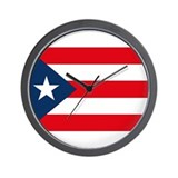 Puerto Rican Flag Wall Clock