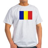 Romanian Flag Ash Grey T-Shirt