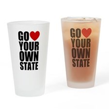 Go <3 Your Own State Drinking Glass