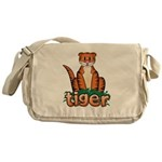 Cartoon Tiger Messenger Bag