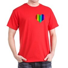 Gay Heart Black T-Shirt