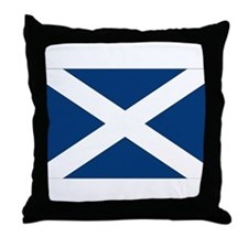Scottish Flag Throw Pillow