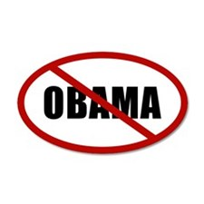 No Obama 22x14 Oval Wall Peel