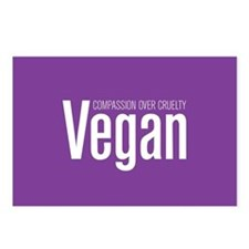 Vegan Compassion Over Cruelty Postcards (Package O