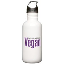 Vegan Compassion Over Cruelty Water Bottle
